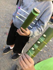 竹で作ったオリジナル弓矢
